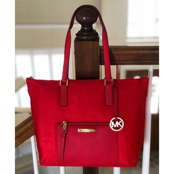 3cf49f4afed5 Michael Kors Bags | Nwt Ariana Large Red Tote | Poshmark